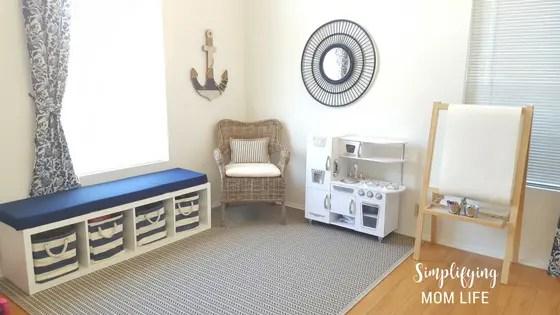 IKEA-Kallax-Hack-Storage-Benches-for-Playroom-window- & IKEA Kallax Hack: Storage Benches for a Playroom | Simplifying Mom Life