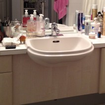 bathroom sink - before