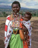 a maasai woman in her best attire