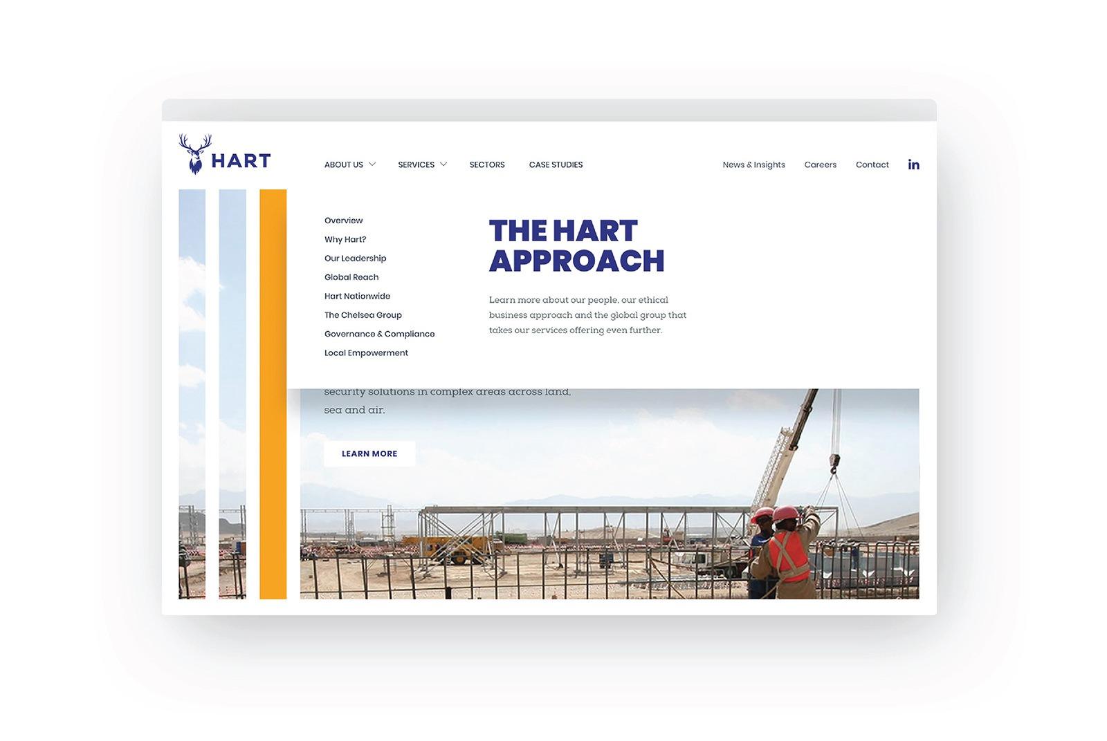 Hart website homepage
