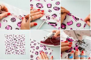 Step by step instructions for sewing