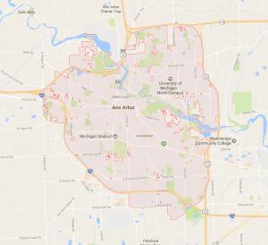 google map ann arbor