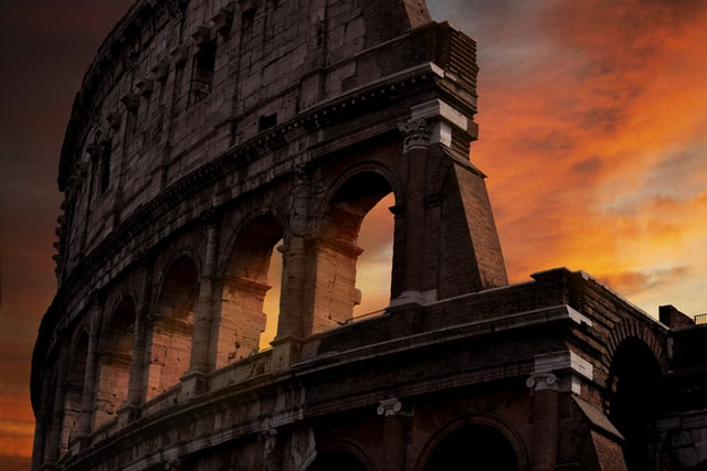 The Colosseum at sunset