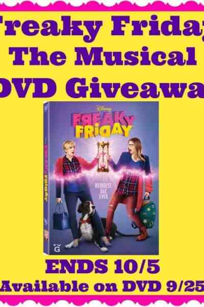 Welcome to the Freaky Friday The Musical DVD Giveaway Ends 10/5