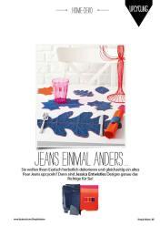 Nähanleitung: Deko-Blätter Jeans Simply Nähen 0415