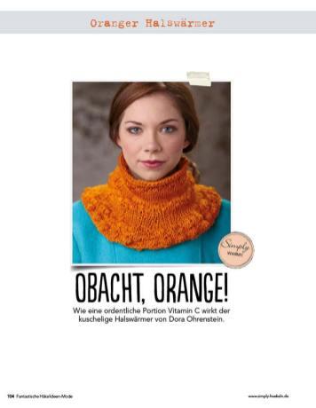 Oranger Halswärmer Fantastische Häkel-Mode-Ideen 0515