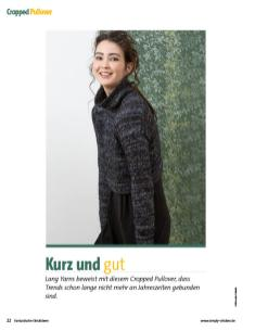Strickanleitung: Cropped-Pullover