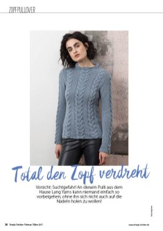 Strickanleitung Pullover Simply Stricken 0217