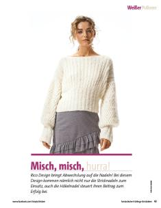 Strickanleitung - Rico Design Weißer Pulli - Fantastische Frühlings-Strickideen - 0218