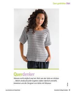 Strickanleitung - Katia Graues Shirt - Fantastische Frühlings-Strickideen - 0218