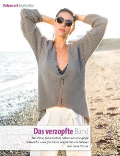 Strickanleitung - Lana Grossa Zopfpullover - Fantastische Frühlings-Strickideen - 0218
