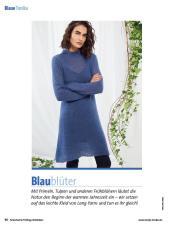 Strickanleitung - Lang Yarns Lange Tunika blau - Fantastische Frühlings-Strickideen - 0218