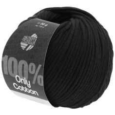 Lana Grossa Only Cotton Farbe Schwarz