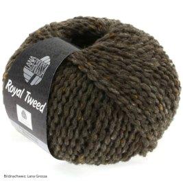 Lana Grossa, Royal Tweed, 12 Graubraun meliert