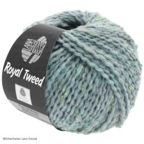 Lana Grossa, Royal Tweed, 89 Blaugrau meliert
