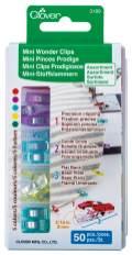 Clover Mini-Stoffklammern Sortiment