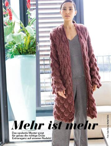 Mantel Lana Grossa Beileger simply stricken 0118