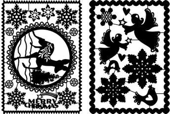 Scherenschnitt Weihnachten aus Papier