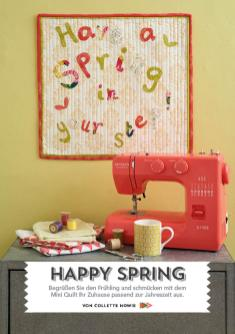 Nähanleitung - Happy Spring - Simply Kreativ - Patchwork - 0318
