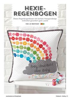 Nähanleitung - Hexie-Regenbogen - Simply Kreativ - Patchwork - 0318