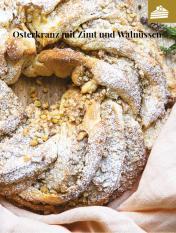 Rezept - Osterkranz mit Zimt und Walnüssen
