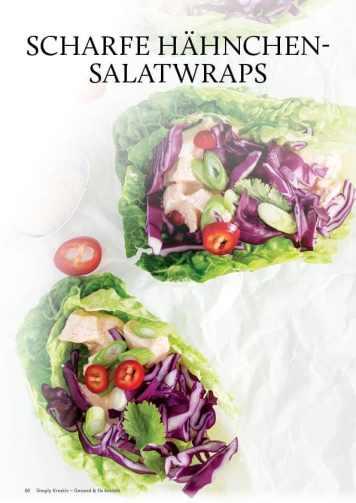 Gesund und fix - Kochen mit dem Thermomix - Scharfe Hähnchensalat-Wraps 0218