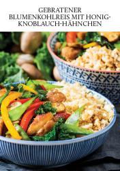 Gesund und fix - Kochen mit dem Thermomix - Gebratener Blumenkohlreis mit Honig-Knoblauch-Hähnchen 0218