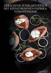 Gesund und fix - Kochen mit dem Thermomix - Gebackene Süßkartoffeln mit Kidneybohnen-Paprika-Tomatensoße 0218