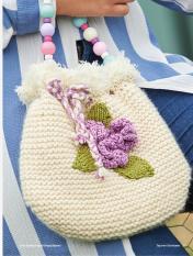 Strickanleitung - Blüten Perlen - Simply kreativ Taschen Strickideen 01/2018