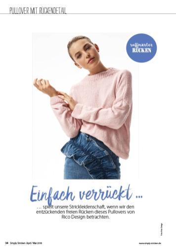 Strickanleitung - Rico Design Rückenfreier Pulli - Simply Stricken - 03/2018