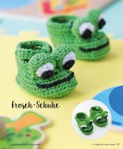 Häkelanleitung - Frosch-Schuhe - Mini Häkeln Vol. 2