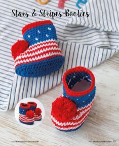 Häkelanleitung - Stars and Stripes Booties - Mini Häkeln Vol. 2