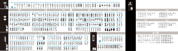 Kirei-NX7-stichmuster