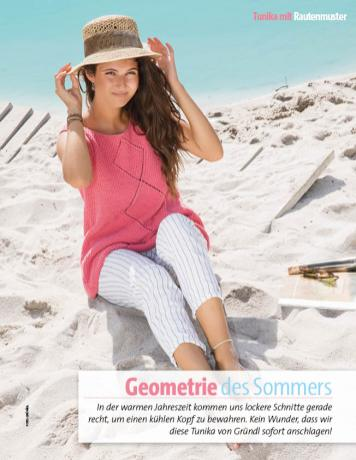 Strickanleitung - Geometrie des Sommers - Cottonwood Top mit Rauten - Fantastische Sommer-Strickideen 03/2018