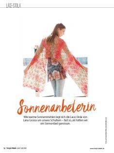 Häkelanleitung - Sonnenanbeterin - Simply Häkeln 04/2018