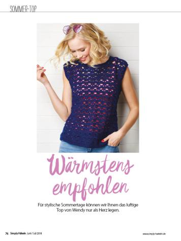 Häkelanleitung - Wärmstens empfohlen - Simply Häkeln 04/2018