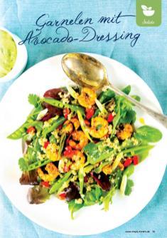 Rezept - Garnelen mit Avocado-Dressing - Gesund und fix mit dem Thermomix - 0418