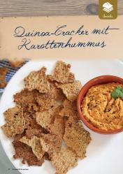 Rezept - Quinoa-Cracker mit Karottenhummus - Gesund und fix mit dem Thermomix - 0418