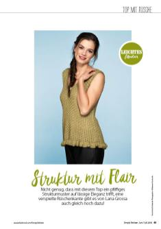 Strickanleitung - Struktur mit Flair - Simply Stricken - 0418