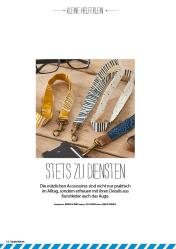 Nähanleitung - Schlüsselband - Simply Nähen 05/2018