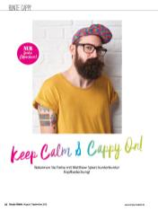 Häkelanleitung - Keep Calm & Cappy On! - Simply Häkeln - 05/2018