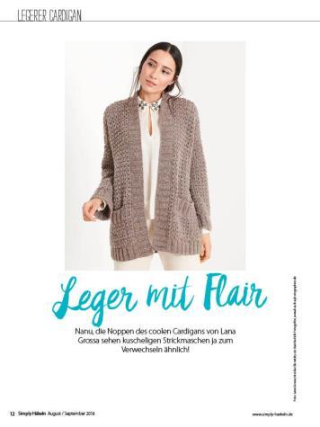 Häkelanleitung - Leger mit Flair - Simply Häkeln - 05/2018