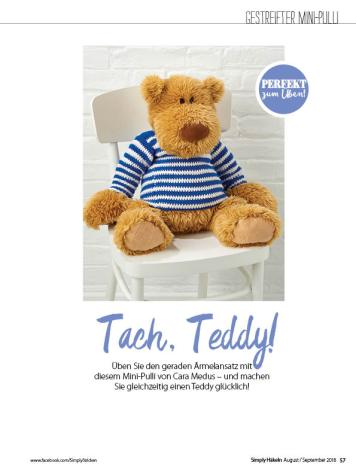 Häkelanleitung - Tach, Teddy! - Simply Häkeln - 05/2018