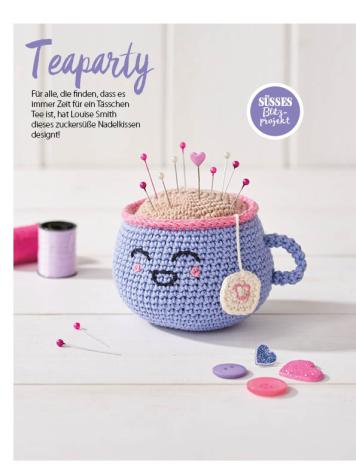 Häkelanleitung - Teaparty - Simply Häkeln - 05/2018