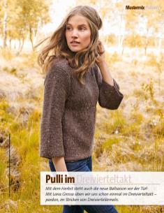 Strickanleitung - Pulli im Dreivierteltakt - Fantastische Herbst-Strickideen - 04/2018