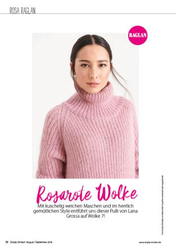 Strickanleitung - Rosarote Wolke - Simply Stricken 05/2018