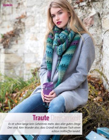Strickanleitung - Traute Dreisamkeit - Fantastische Herbst-Strickideen - 04/2018