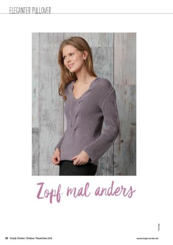 Strickanleitung - Zopf mal anders - Simply Stricken - 06/2018