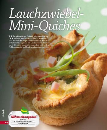 Rezept - Lauchzwiebel-Mini-Quiches - Simply Kochen mini – Rezepte für den Thermomix® 05/18