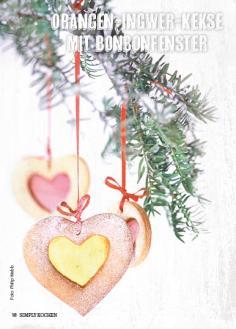 Rezept - Orangen-Ingwer-Kekse mit Bonbon-Fenster - Simply Kochen Special Weichnachtsgebäck - 01/2018